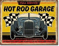 Hot Rod Garage 32 Rat Rods Full Service Vintage Retro Muscle Car Metal Tin Sign
