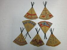 Konvolut 7 alte Indianerzelte für Merten Kunststoff Wildwest Figuren zu 4cm
