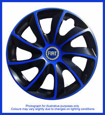 15'' Wheel trims fit Fiat Grande Punto - BLACK / BLUE 4x15''