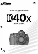 Nikon D40X User Manual Guide Instruction Operator Manual