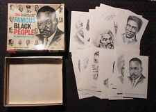 1970 Famous Black People In American History Quiz Game VG w/ 32 Cards FN+