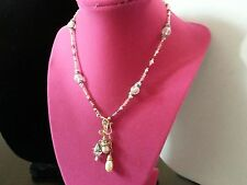 16 in.Crystal Necklace with Swarovski Rhondeles and Pearls