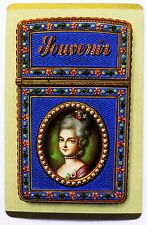 OLD SWAP CARD c1943.18TH CENTURY CARNET DE BAL (DANCE CARD) ROCOCO ART.GILT.RARE