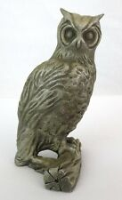 """Horned Owl Tall Stately Hudson Fine Pewter Signed IA 3.25"""" Tall Awesome"""