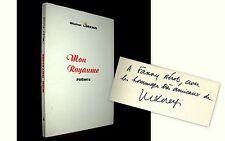 """MON ROYAUME"" Poemes Michel LORENZI Poesie Poetry envoi signé inscribed signed !"
