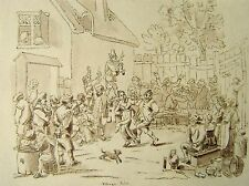 INDIA RAJ  DUTCH OLD MASTER VILLAGE SCENE INK  MAJOR HUTCHINSON 1837