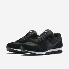 NIKE WOMEN'S MD RUNNER 2 SHOES SIZE 10 black white 749869 001