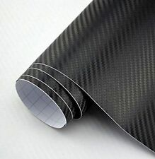 3D Carbon Fiber Twill-Weave Matte Design Decal Vinyl Film 24 X 12 Inches (Black)