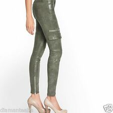 GUESS Women's Mid-Rise Cargo Skinny Jeans in Camo Glitter Wash sz 23