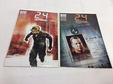 24 UNDERGROUND #1-2 (IDW/Jack Bauer/TV SHOW/0615195) COMIC BOOK SET LOT OF 2