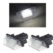 1 Pair LED License Number Plate Light For Citroen SAXO XSARA XSARA Picasso A5T7