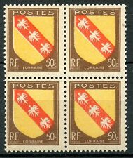 STAMP / TIMBRE FRANCE NEUF N° 757 ** BLOC DE 4 ARMOIRIE LORRAINE