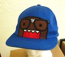 "DOMO Monster baseball hat ""I Love Nerds"" blue cap Japan anime mascot embroidery"