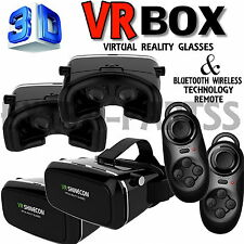 3D Virtual Reality SHINECON VR Movie Game Glasses For Samsung iPhone+ Controller