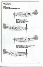 Tuskegee P-51D Mustang Decals 1/32 332nd FG WBD 32006 Part II Creamer's Dream