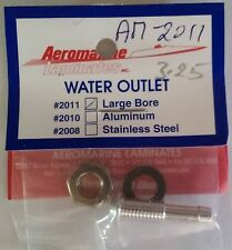 Aeromarine Aluminum Water Outlet Large Bore AM-2011 For RC Model Boats