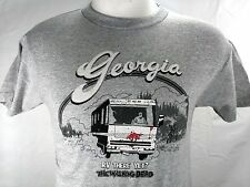 The Walking Dead Men T Shirt Georgia RV Zombie Woodbury Funny Gray Tee New Sz S