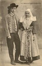 CARTE POSTALE MARIES DE PLOUGASTEL-DAOULAS COSTUME ET FOLKLORE