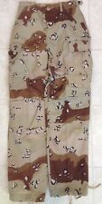NWOT DESERT STORM CHOCOLATE CHIP PANTS XSMALL REGULAR XS-R CAMO TROUSERS