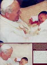 POPE  JOHN PAUL II CLIPPINGS 22 pages  GREAT PHOTOS