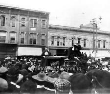 Photo. 1902. Ann Arbor, Michigan.  Crowds Cheering Carrie Nation & Hatchet