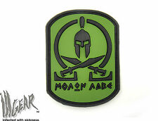 """JTG Molon Labe PVC velcro patch Forest (Greek, """"Come and take them"""")  ill Gear"""