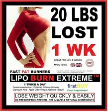 LIPO BURN EXTREME WEIGHT LOSS PILLS NO1 FAT BURNERS STRONG DIET SLIMMING 20