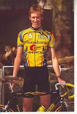 CYCLISME carte JURGEN VAN DE WALLE équipe VLAANDEREN T interim EDDY MERCKX