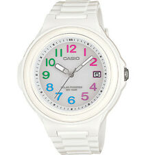 Casio Women's Solar Powered Watch, 100 Meter WR, White Resin, Date, LXS700H-7B2V