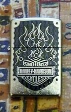 AUTOMOTIVE HARLEY DAVIDSON FLAMES ZIPPO LIGHTER FREE P&P FREE FLINTS