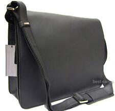 Large Messenger Shoulder Bag Real Leather Oil Black Visconti Harvard 18548 New