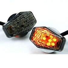15 Amber LED Flush Mount Smoke Turn Signal Indicator Blinker Light Universal ...