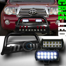 BLK BULL BAR BUMPER GRILL GUARD+36W CREE LED FOG LIGHTS 2005-2015 TOYOTA TACOMA