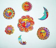 SALE*Iron On Sun & Moon Appliques*Handmade*Out-of-print Laurel Burch fabric/202
