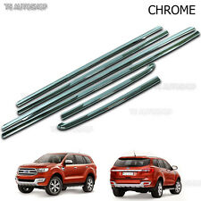 For Ford Everest Suv 2.2 3.2 2016 2017 Chrome 4Dr Line Window Sill Cover Trim