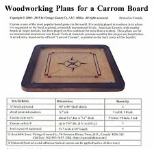WOODWORKING PLANS - build a traditional CARROM/KARUM game board. DIY plans (Eng)
