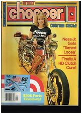 STREET CHOPPER AUGUST 1982 CONTENT 70's BAY AREA DIGGER STYLE CUSTOM CHOPPERS