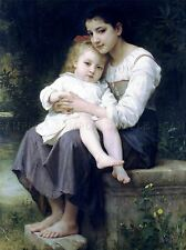 WILLIAM ADOLPHE BOUGUEREAU BIG SIS OLD MASTER ART PAINTING PRINT POSTER 3111OMLV