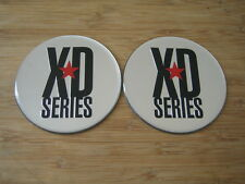 "2x KMC XD Series Monster 778 Chrome/Silver Logo Sticker Only 3 1/16""Diameter"