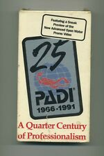 "Vintage SCUBA Diving Training ""PADI: A Quarter Century of Professionalism"" VHS"