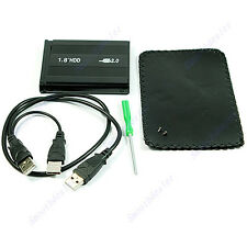 "1PC 1.8"" IDE To External USB 2.0 Hard Disk Drive Case Black Hot"