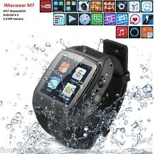IMacwear M7 Smart Watch 3G Android4.4 Handy uhr Armband Heart Rate Monitor GPS