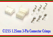 1.25mm Picoblade 3-Pin Male Female Connector Plug with Crimp for RC Hobby 10 SET