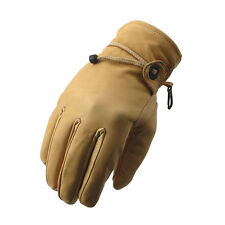 Guanti Gloves Leather Pelle Indiana Beige Biker Motociclisti Harley Custom Tg XL