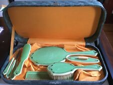 Vintage Art Deco Vanity Dresser Set with Original Case Celluloid?