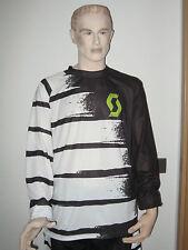 SCOTT Freeride FS Bikeshirt Jersey Langarm in weiß/schwarz  (M)  NEU