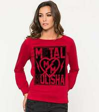 2016 NWT WOMENS METAL MULISHA ROCK IT CREW FLEECE SWEATER $42 S red