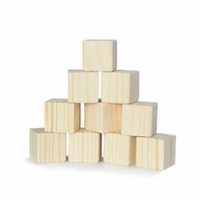Wooden Blocks 10 pcs 44 mm Cubes Stacking Building Toy Natural - FREE SHIPPING