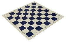 "20"" Vinyl Chess Board – Meets Tournament Standards - Blue - 2.25 Inch Squares"