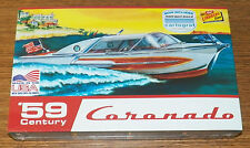 Lindberg Century Coronado Boat 1959 speed boat model kit cartograf decals 1/25